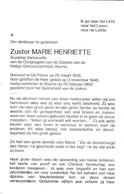 Zuster, Soeur, Suzanne Verneuville, De Panne, Veurne - Godsdienst & Esoterisme