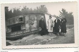Photo Ancienne Tank Allemand Panzer ? Format 11,5X7 - War, Military