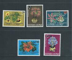 Sierra Leone 1965 Churchill & Margei Memorial Airmail Set Of 5 MLH /  MNH - Sierra Leone (1961-...)