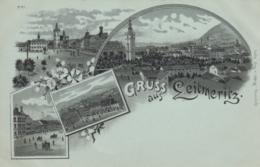 AK - Mondscheinkarte - Litho - Gruss Aus LEITMERITZ - Kelchhaus - Marktplatz -  1900 - Tschechische Republik