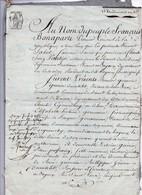 Manuscrit Acte Notarié Notaire Vautier Bayeux 1803 Guérin Ducatelet Dinan Goussiaume Arguenchy 4 Pages - Manuscripts
