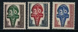 Polynésie Française // Timbres Taxes // 1958 Timbres Neufs** MNH Y&T No.1-3 - Timbres-taxe