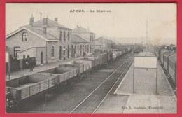 Athus - La Station ... Convoi Ferroviaire - 1907 ( Voir Verso ) - Aubange