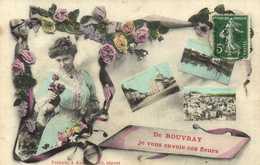 Fantaisie De ROUVRAY Je Vous Envoie Ces Fleurs Multivues Colorisée RV - Autres Communes