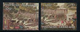 Polynésie Française // Poste Aérienne // 1984//  Sacrifice Humain,timbres Neufs** MNH Y&T No.184-185 - Neufs