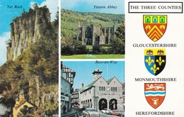 England The Three Counties Various Views Postcard Used Good Condition - England