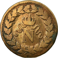 Monnaie, France, Napoléon I, Decime, 1814, Strasbourg, TB, Bronze, KM:700 - France