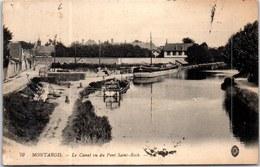 45 MONTARGIS - Le Canal, Vu Du Pont St Roch - Montargis