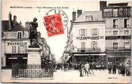 45 MONTARGIS - Place Mirabeau Et La Rue Dorée. - Montargis