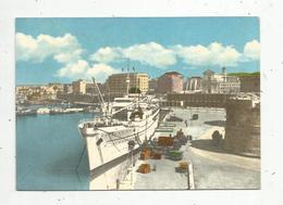 Cp, Bateaux ,paquebot , Italie ,CIVITAVECCHIA , Veduta Dal Porto , Voyagée 1962 - Paquebots