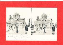 ATHENES Cpa Steréoscopique Animée Eglise Saint Georges   19 LL - Grèce