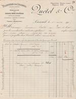 Facture 1917 / QUETEL / Filature / 70 Luxeuil - France