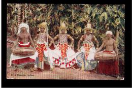 CEYLON Devil Dancers 1929 OLD POSTCARD - Sri Lanka (Ceylon)