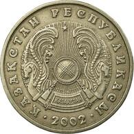 Monnaie, Kazakhstan, 50 Tenge, 2002, Kazakhstan Mint, TTB, Copper-Nickel-Zinc - Kazakhstan