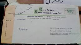 CESANO MADERNO DITTA FABBRICA MOBILI CARLETTO SANTAMBROGIO  50 LIRE  ORG LAVORO VB1969 HB9279 - Milano (Milan)
