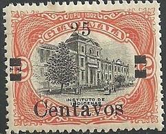 1920 GUATEMALA INSTITUTO DE INDÍGENAS  SOBRECARGA 25c /2p  Sc.168/a37  MNH, INDIAN INSTITUTE , SURCHARGED - Guatemala