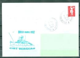 MARCOPHILIE - CMT VERSEAU BREST AVRIL 1997 Cachet BREST MARINE Du 16 - 4 - 1997 - Poste Navale