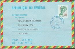Sénégal 1983. Aérogramme à 70 F Surchargé 100 F. Usage Philatélique En 1986, Mais Rare. Femme Sénégalaise - Sénégal (1960-...)