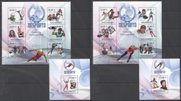 C646 2010 MOZAMBIQUE MOCAMBIQUE SPORT DESPORTO OLYMPIC GAMES 2010 WOMEN CHAMPIONS 2SH+2BL MNH - Timbres