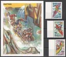 N643 2000 SOOMAALIYA SPORT ART RAFTING CANOEING MICHEL 28 EURO 1BL+1SET MNH - Canoë