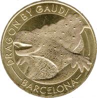 ESPAGNE BARCELONE CASA BATLLO DRAGON BY GAUDI MÉDAILLE MONNAIE DE PARIS 2018 JETON TOKENS MEDALS COINS - 2018
