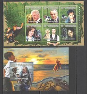 K584 2010 GUINEE GUINEA ANIMALS DOGS 1KB+1BL MNH - Chats Domestiques
