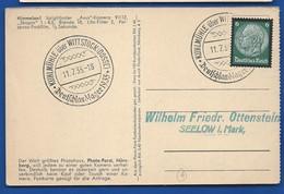 Carte  Affranchi à 6 Deutches Reich   Oblitération:  KUHLMÜHLE ÜBER STOCK  DEUTFCHLAND LAGER 11/7/1935 - Germany