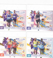 Jordan New Issue 2019, 25th Year Of Dead Sea Marathon 4 Stamps Compl.set MNH -= Nice Sport Topice- SKRILL PAYMENT ONLY - Jordan
