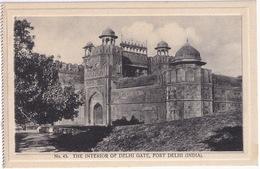 The Interior Of Delhi Gate, Fort Delhi - (India) - (Publ.: H.A. Mirza & Sons, Delhi) - India