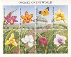 MBP-BK2-402 MDV MINT ¤ ANTIGUA & BARBUDA 1997 8w In Serie ¤ ORCHIDS OF THE WORLD ORCHIDEE - FLEURS BLÜMEN BLOEMEN FLORES - Orchids
