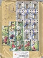 Jordan Commercial Registr.cover Frnaked Compl.set Fruits 10v.+10 Stamps Craderl Overpitn In Red-scarce-fine T-SKRILL Onl - Jordan