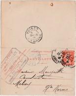 Carte Lettre Commerciale 1948 / Entier / Menuiserie PORGET / 9 Rue Thiers à Charleville / 08 Ardennes - Maps