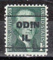 USA Precancel Vorausentwertung Preo, Locals Illinois, Odin L-1 TS - Stati Uniti