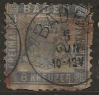 Timbre Baden 1862 - Baden