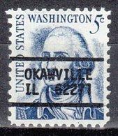 USA Precancel Vorausentwertung Preo, Locals Illinois, Okawville L-1 TS, Stamp Thin - Vereinigte Staaten