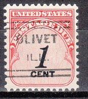 USA Precancel Vorausentwertung Preo, Locals Illinois, Olivet 631 - Vereinigte Staaten