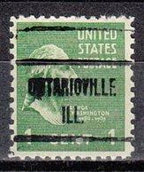 USA Precancel Vorausentwertung Preo, Locals Illinois, Ontarioville 723 - Vereinigte Staaten