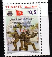 TUNISIA, 2018, MNH, SOLDIERS, MARTYRS OF THE PRESIDENTIAL GUARD,1v - Militaria