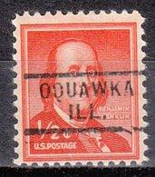 USA Precancel Vorausentwertung Preo, Locals Illinois, Oquawka 729 - Vereinigte Staaten