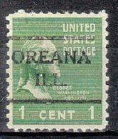 USA Precancel Vorausentwertung Preo, Locals Illinois, Oreana 716 - Vereinigte Staaten