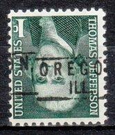 USA Precancel Vorausentwertung Preo, Locals Illinois, Oregon 801 - Vereinigte Staaten