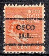 USA Precancel Vorausentwertung Preo, Locals Illinois, Osco 708 - Vereinigte Staaten