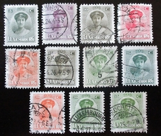 1921 LUXEMBOURG 11 Valeurs  . Grand Duchess Charlotte .Belles Oblitérations - 1921-27 Charlotte Front Side