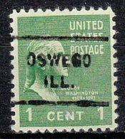 USA Precancel Vorausentwertung Preo, Locals Illinois, Oswego 712 - Vereinigte Staaten