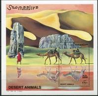 MDA-BK1-011-2 MINT ¤ SOMALIA 2000 BLOCK ¤ DESERT - WILD ANIMALS OF THE WORLD - MAMMALS AND OTHER - Gibier