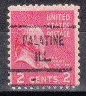 USA Precancel Vorausentwertung Preo, Locals Illinois, Palatine 721 - Vereinigte Staaten