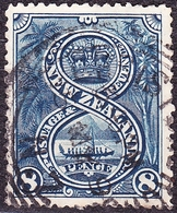 NEW ZEALAND 1899 QV 8d Indigo SG266 Used - 1855-1907 Crown Colony