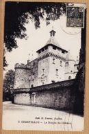 X89143 CHASTELLUX Yonne Le Donjon Du Château 1910s à DENNI Faubourg St-Martin Paris - H.COURON Avallon - Otros Municipios