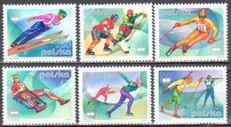 Poland 1976 - Winter Olympic Games, Innsbruck - Mi.2421-26 - MNH(**) - Postfrisch - Ongebruikt