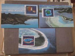 3 Cartes  Premier Jour - LA POLYNESIE VUE DE L'ESPACE - PAPEETE  18 Mars 1992 - Illustrateur : L. ARQUER - Tahiti